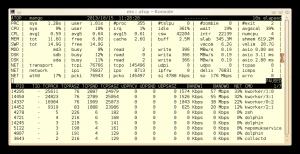 Atop zeigt die mit einem simplen dd verursachten Schreibzugriffe auf das NFS-Dateisystem