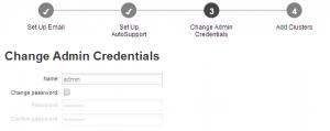 optionale Passwort-Änderung des Maintenance-Benutzers