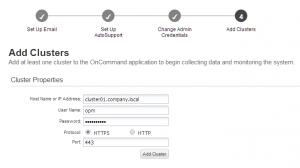 Hinzufügen der clustered Data ONTAP Systeme