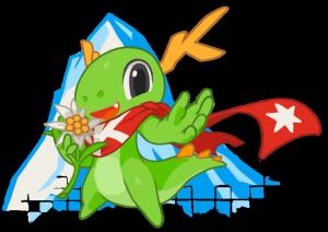 Maskottchen der KDE Randa Meetings