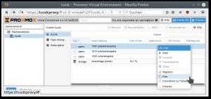 Proxmox-Weboberfläche: Neue VM anlegen